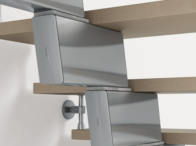 Fontanot Genius 030 spiral stairs: design your staircase