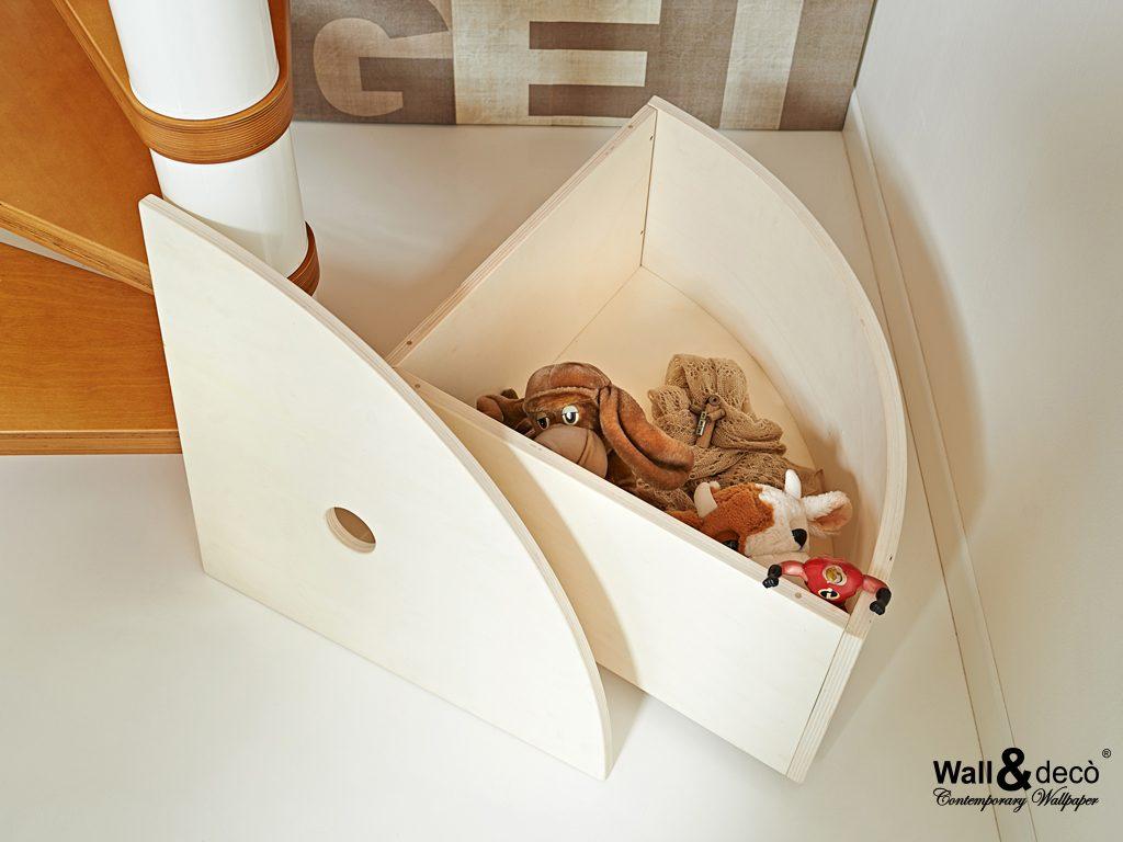 understair wood container